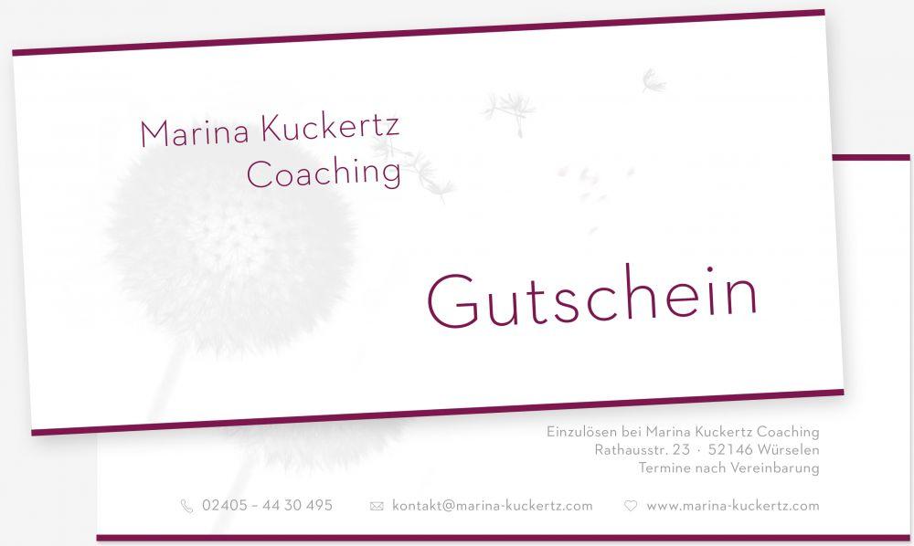 Coaching Aachen Geschenkgutschein