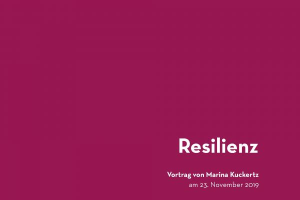 Resilienz - ein Kurzvortrag in Aachen